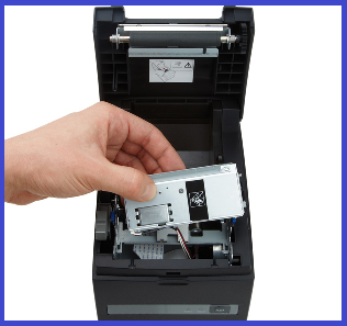 Промоцена! Thermal printer; Serial + USB interfaces, integrated PSU, Black Вид 2