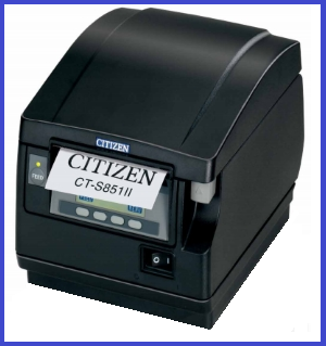 Чековый термопринтер CT-S851II Printer; No PSU (DC 24V), No interface, Black